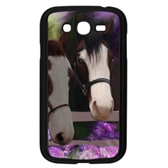 Two Horses Samsung Galaxy Grand Duos I9082 Case (black) by JulianneOsoske