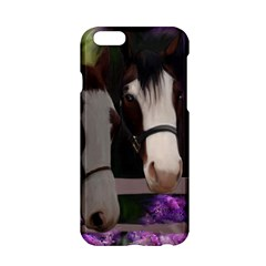 Two Horses Apple Iphone 6 Hardshell Case by JulianneOsoske