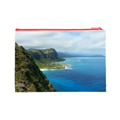 Oahu By Stacy Judd   Cosmetic Bag (large)   Aeoxysog5mqb   Www Artscow Com Back