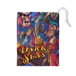 CapnYB Dark Seas Tile Bag - Drawstring Pouch (Large)
