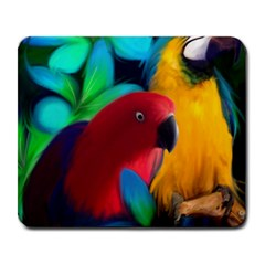 Two Friends Large Mouse Pad (Rectangle) by JulianneOsoskeFeathers