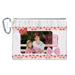 Mothers Day By Mom   Canvas Cosmetic Bag (large)   3i936tmc7z77   Www Artscow Com Front