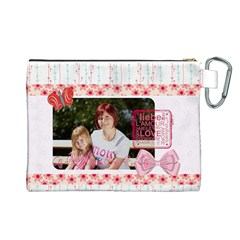 Mothers Day By Mom   Canvas Cosmetic Bag (large)   3i936tmc7z77   Www Artscow Com Back