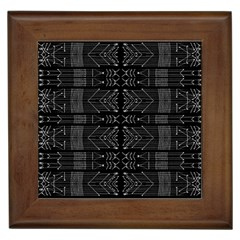 Black And White Tribal  Framed Ceramic Tile by dflcprints