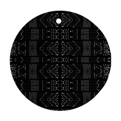 Black and White Tribal  Round Ornament