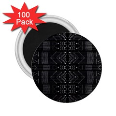 Black And White Tribal  2 25  Button Magnet (100 Pack) by dflcprints