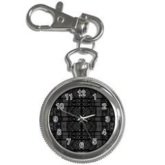 Black and White Tribal  Key Chain Watch