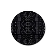 Black and White Tribal  Drink Coaster (Round)