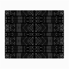 Black And White Tribal  Glasses Cloth (small) by dflcprints