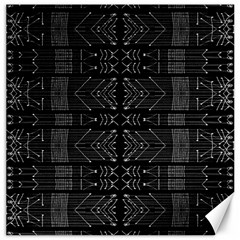 Black And White Tribal  Canvas 12  X 12  (unframed) by dflcprints