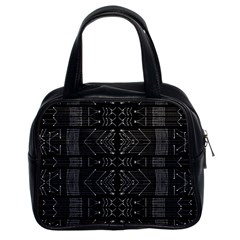 Black And White Tribal  Classic Handbag (two Sides) by dflcprints