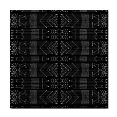 Black and White Tribal  Face Towel