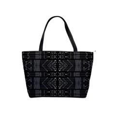 Black and White Tribal  Large Shoulder Bag