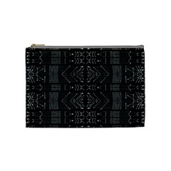 Black and White Tribal  Cosmetic Bag (Medium)