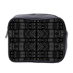 Black And White Tribal  Mini Travel Toiletry Bag (two Sides) by dflcprints