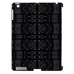 Black And White Tribal  Apple Ipad 3/4 Hardshell Case (compatible With Smart Cover) by dflcprints