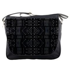 Black and White Tribal  Messenger Bag