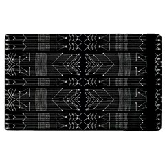 Black And White Tribal  Apple Ipad 3/4 Flip Case by dflcprints