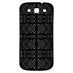 Black And White Tribal  Samsung Galaxy S3 S Iii Classic Hardshell Back Case by dflcprints