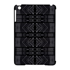 Black And White Tribal  Apple Ipad Mini Hardshell Case (compatible With Smart Cover) by dflcprints