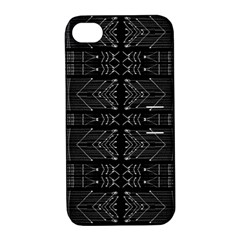 Black And White Tribal  Apple Iphone 4/4s Hardshell Case With Stand by dflcprints