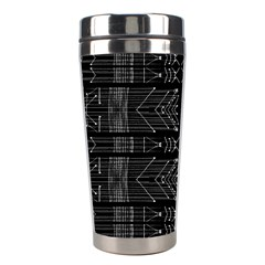 Black And White Tribal  Stainless Steel Travel Tumbler by dflcprints
