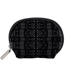 Black and White Tribal  Accessory Pouch (Small)