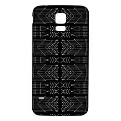 Black And White Tribal  Samsung Galaxy S5 Back Case (white) by dflcprints