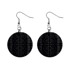 Black And White Tribal  Mini Button Earrings by dflcprints