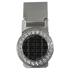 Black And White Tribal  Money Clip (cz) by dflcprints
