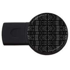 Black And White Tribal  4gb Usb Flash Drive (round) by dflcprints