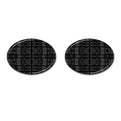 Black And White Tribal  Cufflinks (oval) by dflcprints