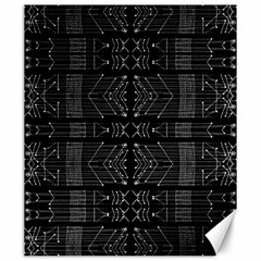 Black And White Tribal  Canvas 20  X 24  (unframed) by dflcprints