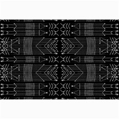 Black And White Tribal  Canvas 20  X 30  (unframed) by dflcprints