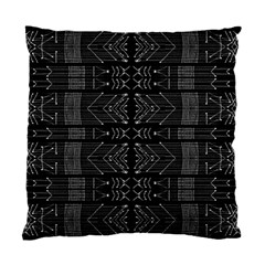 Black And White Tribal  Cushion Case (two Sided)  by dflcprints