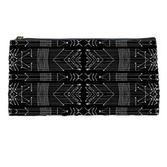 Black And White Tribal  Pencil Case by dflcprints