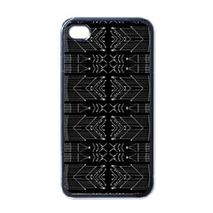 Black And White Tribal  Apple Iphone 4 Case (black) by dflcprints