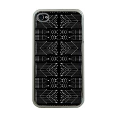 Black And White Tribal  Apple Iphone 4 Case (clear) by dflcprints