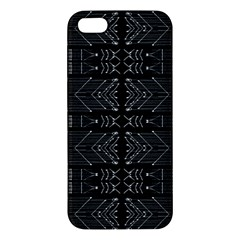 Black And White Tribal  Iphone 5s Premium Hardshell Case by dflcprints