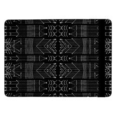 Black And White Tribal  Samsung Galaxy Tab Pro 12 2  Flip Case by dflcprints