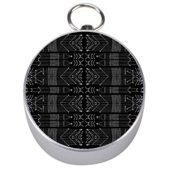 Black And White Tribal  Silver Compass by dflcprints