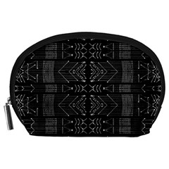 Black And White Tribal  Accessory Pouch (large) by dflcprints