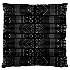 Black And White Tribal  Standard Flano Cushion Case (one Side)