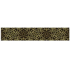 Celtic Golden Arabesque Print Flano Scarf (large) by dflcprintsclothing