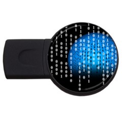 Binary Rain 2gb Usb Flash Drive (round)