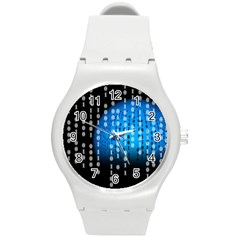 Binary Rain Plastic Sport Watch (medium)