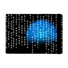 Binary Rain Apple Ipad Mini Flip Case by StuffOrSomething