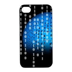 Binary Rain Apple Iphone 4/4s Hardshell Case With Stand by StuffOrSomething