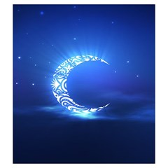 Blue Moon City By Liron Levy   Drawstring Pouch (medium)   35gx7nv4juwn   Www Artscow Com Front