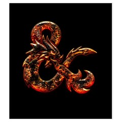 Medium Fire & On Black By Jason Garman   Drawstring Pouch (medium)   Lsl6jo4744px   Www Artscow Com Front